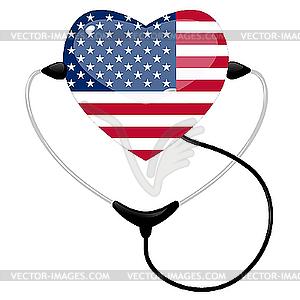 Medizin Vereinigten Staaten von Amerika - Vector-Bild