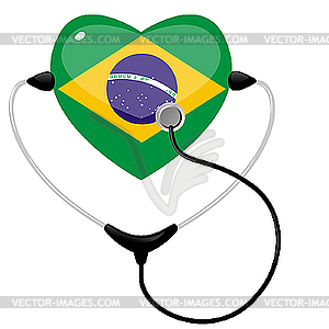 Medizin in Brasilien - Vector Clip Art