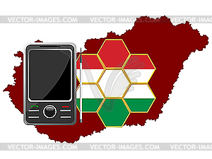 Mobile Communications Ungarn - Vector-Clipart