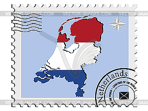 Stampfen mit den Bildkarten der Niederlande - Vector-Clipart / Vektor-Bild