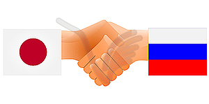 Zeichen der Freundschaft die Russland und Japan - Royalty-Free Vektor-Clipart