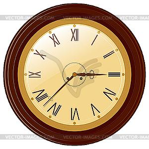 Runde Uhr mit römischen Ziffern - Vektor-Clipart / Vektor-Bild