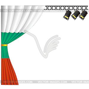 Theater Bulgarien. - Vektor-Illustration