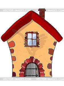 Haus aus Stein - Vector-Clipart EPS