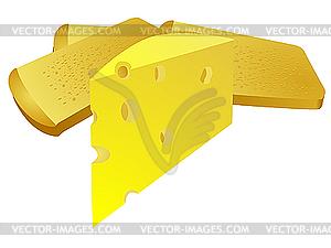 Käse und Brot - Vektor-Design