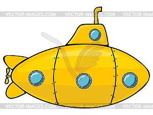 Gelbe U-Boot - Vektorgrafik