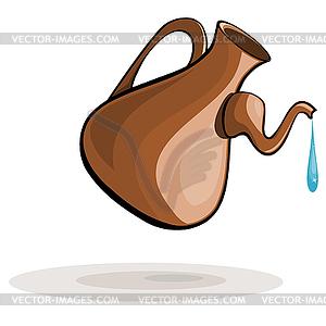 Tonkrug und Tropfen Wasser - Vektor-Clipart / Vektor-Bild