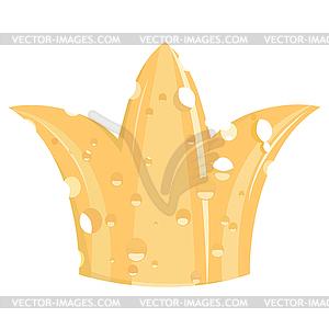 Die Krone von Käse - vektorisiertes Bild