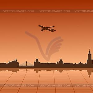 Stadtlandschaft von Warschau - Vector-Illustration
