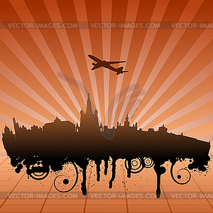 Stadtlandschaft von Moskau - Vektor-Clipart EPS