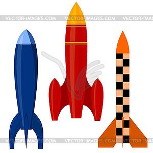 Set von Raketen - Vektor Clip Art