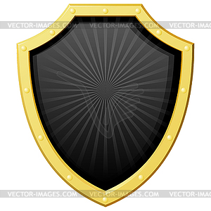 Schwarzes Schild mit einer Goldgrenze - Klipart