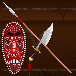 Afrikanische Waffen - Vektor-Clipart / Vektor-Bild