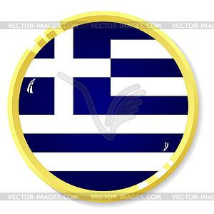 Knopf mit Flagge Griechenland - vektorisierte Grafik