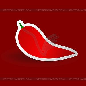 Roter Pfeffer - Vector-Clipart / Vektor-Bild