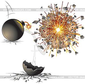 Взрыв клипарт в векторном формате
