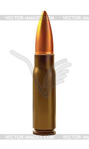 Eine Patronen für automatische Waffen - Vector-Bild