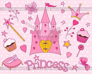 Set für Prinzessin - Vector Clip Art