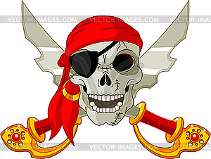 Piraten-Schädel - Vektor-Clipart / Vektorgrafik