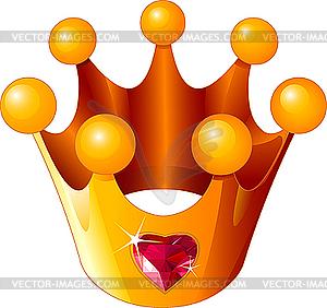 Liebes-Krone einer Prinzessin - Vector-Illustration