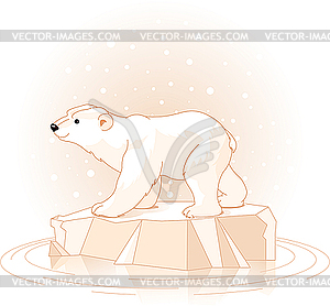 Polarbär - Stock Vektor-Clipart