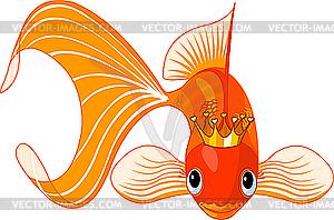 Cartoon Goldfish-Königin - Vektor-Clipart / Vektor-Bild