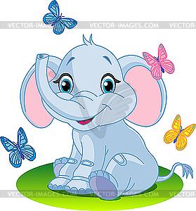Baby-Elefant - Clipart