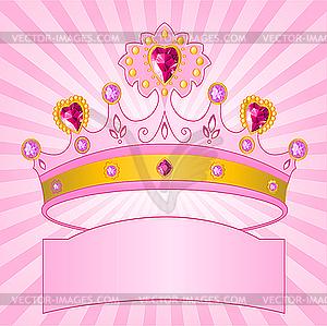 Krone von Prinzessin - Stock Vektor-Bild