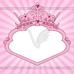 Rahmen mit Prinzessin-Krone - Vektor-Clipart / Vektorgrafik
