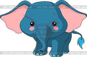 Comic-Elefant - farbige Vektorgrafik
