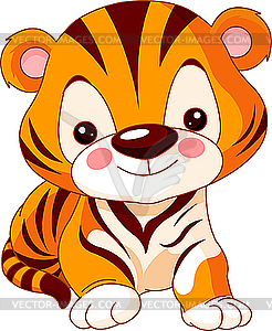 Comic-Tiger - Vector-Clipart