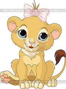 Kleine Löwin - Vector-Bild