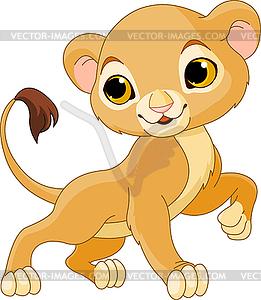 Tapferer junger Löwe - Vektorgrafik