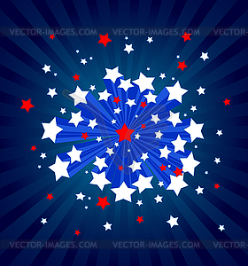 Amerikanischer Hintergrund von Sternen - Stock Vektor-Clipart