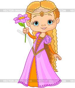 Schöne kleine Prinzessin - Vector-Clipart / Vektor-Bild