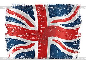 Grunge-Flagge von Großbritanni - Vektor-Klipart