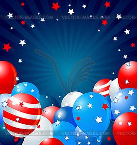 Patriotische Luftballons Grenze - Vector-Illustration