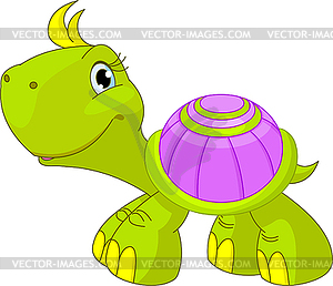 Nette lustige Schildkröte - Vektor-Clipart EPS