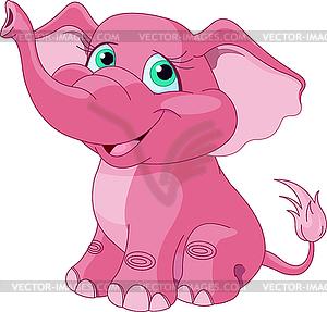 Rosa Elefant - Royalty-Free Clipart