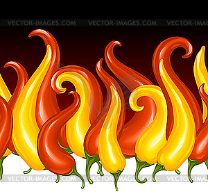 Paprika in der Gestalt des Feuers - Vector Clip Art