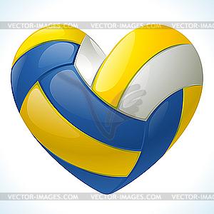 Ich liebe Volleyball - vektorisiertes Design