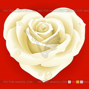 Rot Weiß in der Form des Herzens - Vektor Clip Art