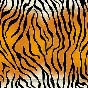 Nahtlose Textur der Tigerfell - Vector-Design