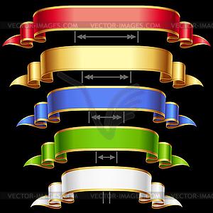 Set von Bändern unterschiedlicher Länge - vektorisiertes Design