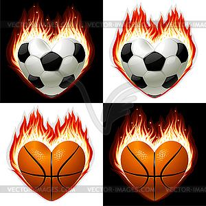 Fußball, Basketball Ball - Clipart-Bild