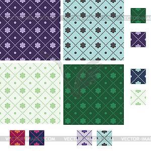 Diamant nahtlose Muster mit Zeilen von kleinen Kreisen - Vektor-Clipart / Vektorgrafik