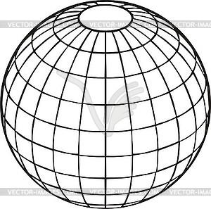 Weltkugel - Vektor-Klipart
