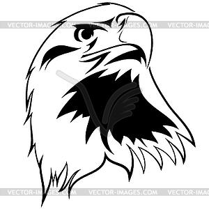 Stilisierter Adler - Vektor-Skizze