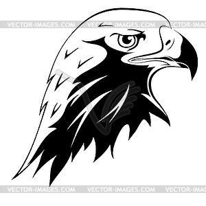 Tattoo. Kopf eines Adlers  - vektorisiertes Clip-Art