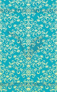 Dekoratives nahtloses Pflanzenornament - Vektorgrafik